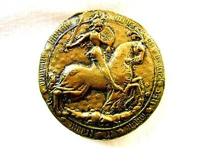 Medieval Style Horse Rider Copper Paper Weight