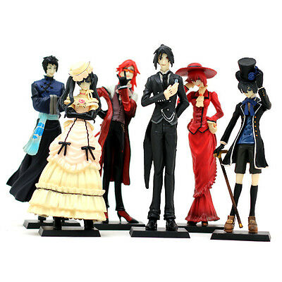 Anime Kuroshitsuji Black Butler Set 6x Characters Action Figure Model Doll Gift