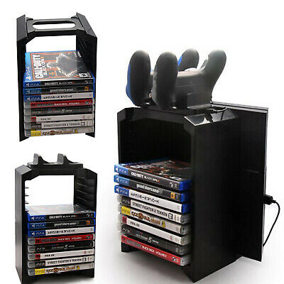 UK Universal Games Blu Ray Discs Storage Stand Tower For Xbox One PS4 Console