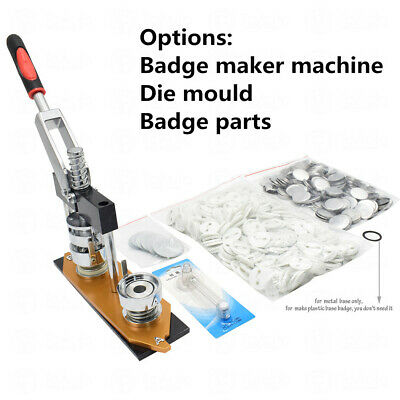 25-58mm Badge Maker Machine/Die Mould/300Sets Button Parts Badge Pin Punch Press