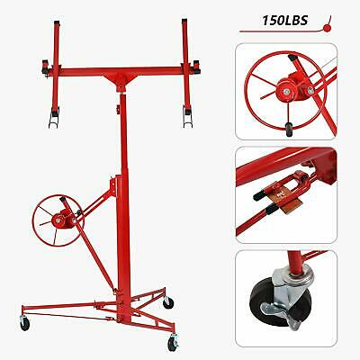 Drywall Panel Rolling Lifter Dry Wall Hoist Jack Caster Lockable Lift Tool