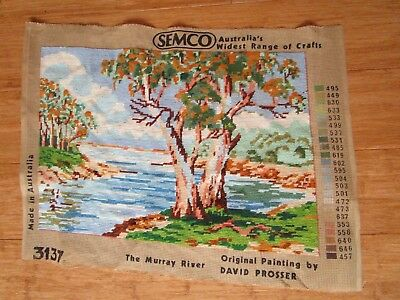 Completed The Murray River Tapestry From David Prossers's Original Painting.