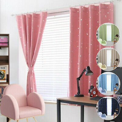 Star Thermal Blackout Curtains Hooks/Eyelet Ready Made for Kids Boys Girls Room