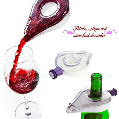 Wine Decanter Magic Quick Aerator Pour Spout Mini Travel Filter Air Intake x4T