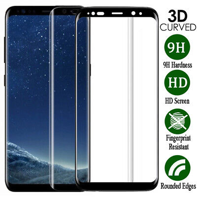 For Samsung Galaxy S7 Edge S8 S9 Plus Full Cover Tempered Glass Screen Protector