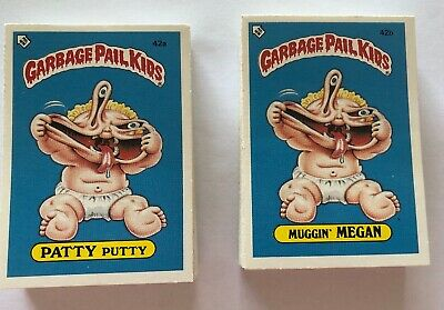 Garbage Pail Kids 2nd Series 1985 UK SUPERB SET A & B Complete (84) + Empty Pack