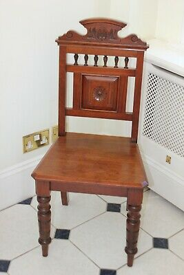 A Good Victorian Aesthetic Mahogany Hall Chair