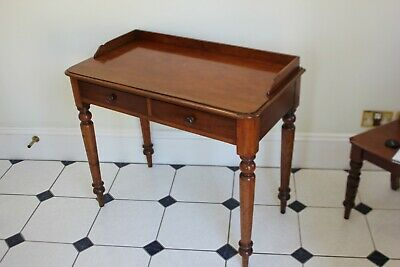 A Lovely Victorian Mahogany Two Drawers Hall table.