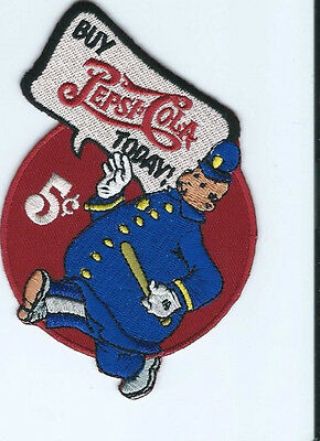 "Buy Pepsi Cola Today ""Wimpie"" driver patch 3-1/2 X 3-1/2 #5025"