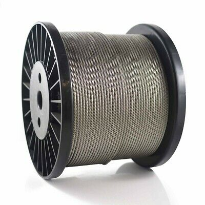 Wire Rope Stainless Steel 316 7x7 3.2mm Marine Cable Decking Balustrade Trellis