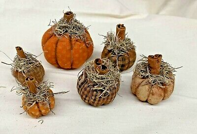 Fall/Farmhouse/TINY Pumpkins/Halloween/Bowl Fillers/Grunged/Assorted Fabric