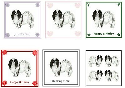 Japanese Chin Birthday Card by Curiosity Crafts PERSONALISATION AVAILABLE