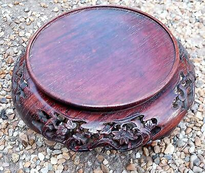 Antique Chinese Carved Hongwu Chinese Rosewood Vase Stand