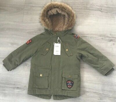 Mothercare Boys Quality Warm Winter Coat Age 12-18 Months New With Tags