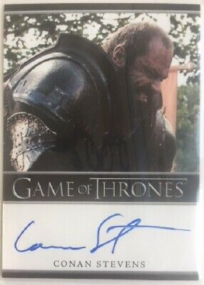 Conan Stevens Bordered Autograph as Gregor Clegane from Game of Thrones Season 2