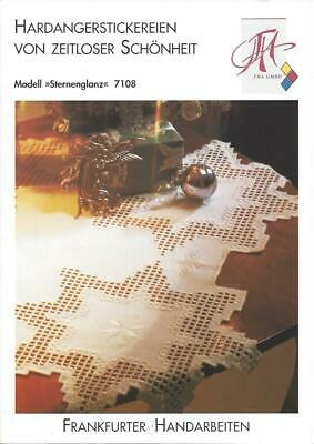 Hardanger pattern for unusually shaped table cloth