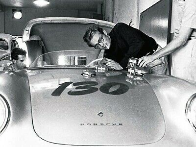 A3 Porsche 1955 550 Spyder 'James Dean' Poster Brochure Picture Art Print
