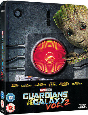 Guardians of the Galaxy Vol. 2 3D & 2D Zavvi Exclusive Limited Steelbook Blu Ray
