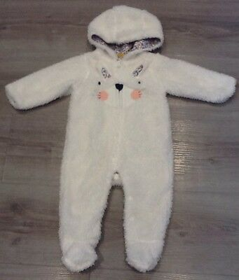 Mothercare Baby Girls Fluffy Lined Snowsuit Age Up To 3 Months New With Tags