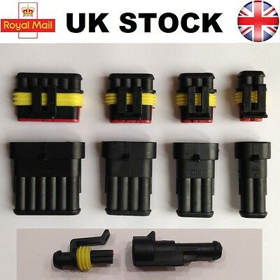 Tyco AMP Electrical Waterproof Connector 1 2 3 4 5 6 Pin Superseal Car Boat Kit