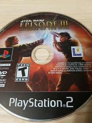 Star Wars Episode III: Revenge of the Sith PlayStation 2 PS2 Disc Only Tested!