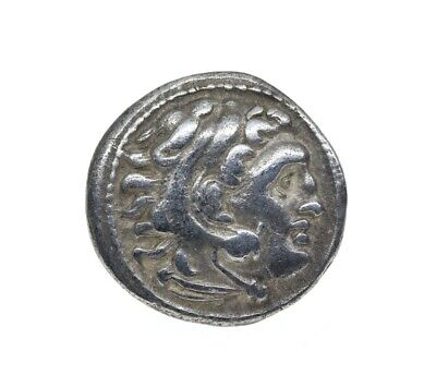 Ancient Greek Silver Alexander the Great Drachm Coin.