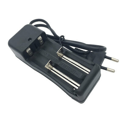 Smart 18650 Battery Charger 3.7V Li-ion Rechargeable 2 Slots EU Plug Charger New