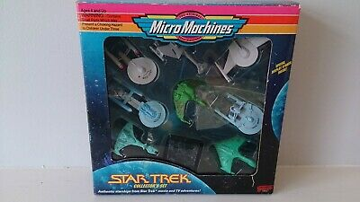 Rare Star Trek Galoob Micro Machines 9 Ship Collector's Set 1993