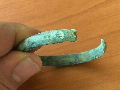 Ancient Roman Bronze Bracelet Circa 200-400 AD Very Rare