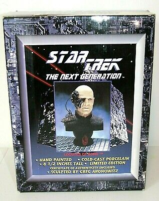 """STAR TREK The Next Generation LOCUTUS OF BORG Captain Picard 8.5"""" Cold Cast Bust"""