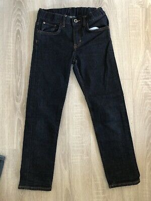 Boys H&M Navy Slim Fit Jeans With Adjustable Waistband 8-9 Years