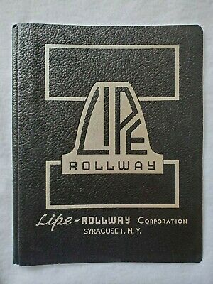 "Lipe Rollway Instructions / Manual for 9"" Lathe OEM"