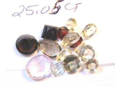 25.05Ct Parcel Natural Faceted Gems Mixed Sizes and Shapes