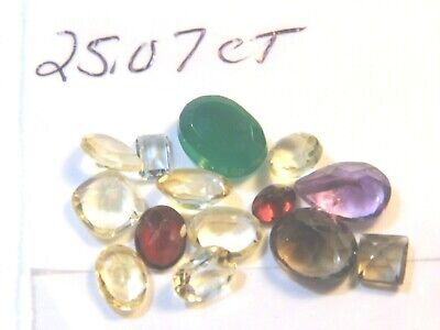 25.07Ct Parcel Natural Faceted Gems Mixed Sizes and Shapes as Shown