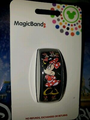 Disney MINNIE MOUSE BOW Ultimate All Over Black Magic Band 2.0 Magicband Parks