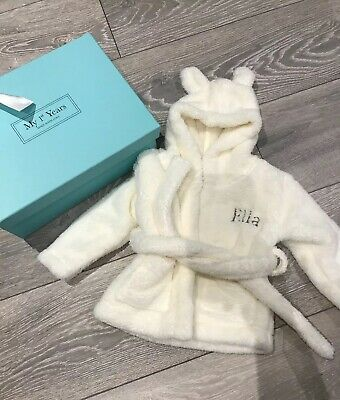 My First Years / Dressing Gown / Personalised With ELLA / Xmas Gift? / 0-6 Month