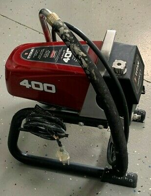 TITAN 840 IMPACT Electric Airless Paint Sprayer Used In Full