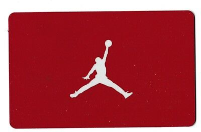 Nike collectible gift card no value mint #10 Jumpman