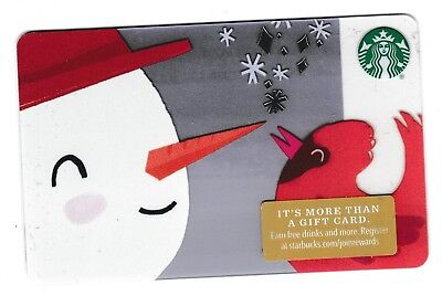 Starbucks collectible gift card no value mint #142 Snowman