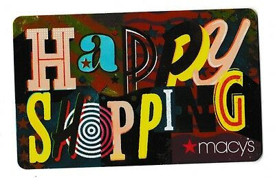Macy's collectible gift card no value mint #31 Happy Shopping