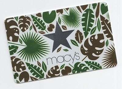 Macy's collectible gift card no value mint #12 Leaves