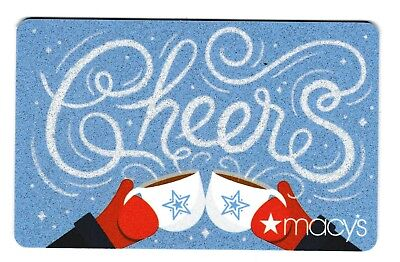 Macy's collectible gift card no value mint #46 Cheers
