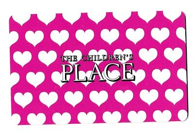 Children's Place no value collectible gift card mint #12 White Hearts on Pink