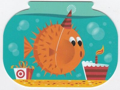 Target no value collectible gift card mint #19 Birthday Fish