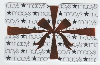 Macy's collectible gift card no value mint #14 Gift Box with Ribbons