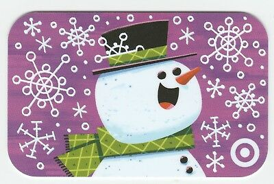 Target no value collectible gift card mint #61 Snowman