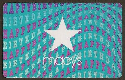 Macy's collectible gift card no value mint #05 Happy Birthday