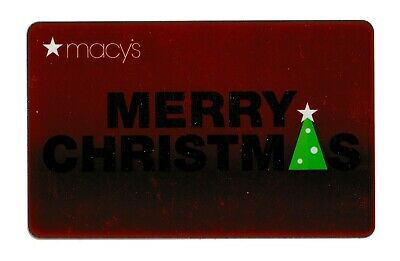 Macy's collectible gift card no value mint #61 Merry Christmas
