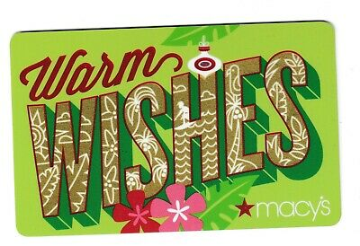 Macy's collectible gift card no value mint #36 Warm Wishes