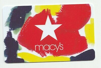 Macy's collectible gift card no value mint #17 Colorful